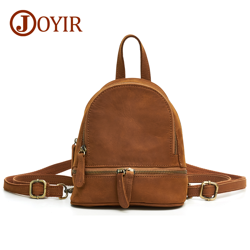 JOYIR Woman Backpack School Bags For Girls Genuine Leather Bag Female Back Pack For School Fashion Solid Bolsa Feminina Mochila fashion women leather backpack rucksack travel school bag shoulder bags satchel girls mochila feminina school bags for teenagers