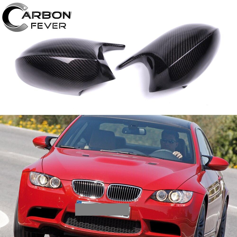 E82 E87 E81 mirror M3 look carbon fiber side mirror cover mirrors caps for BMW 3 series E90 E91 E92 E93 pre lci 2006-2009