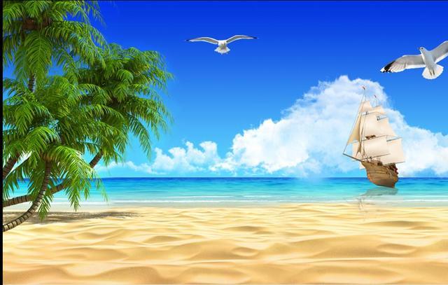 Custom 3d Photo Wallpaper Hd Maldives Sea Beach Natural: 3D Stereoscopic Photo Wallpaper Custom 3d Wall Murals