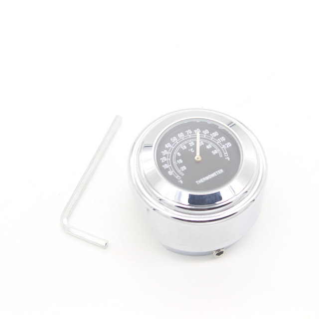 Universal Chrome Moto Accessories Waterproof Handlebar Mount Thermometer Motorcycle Bike Handlebar Thermometer Car Styling