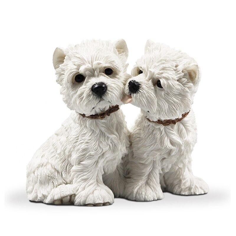 Mnotht 1/6 West Highland Lovers Dog Dog Model Resin Resin Anmial Dog - Խաղային արձանիկներ - Լուսանկար 5
