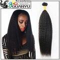 Não transformados malásia Kinky em linha reta cabelo tece 3 peças muito 7A grau Kinky hetero grosso Yaki virgem malaio feixes de cabelo
