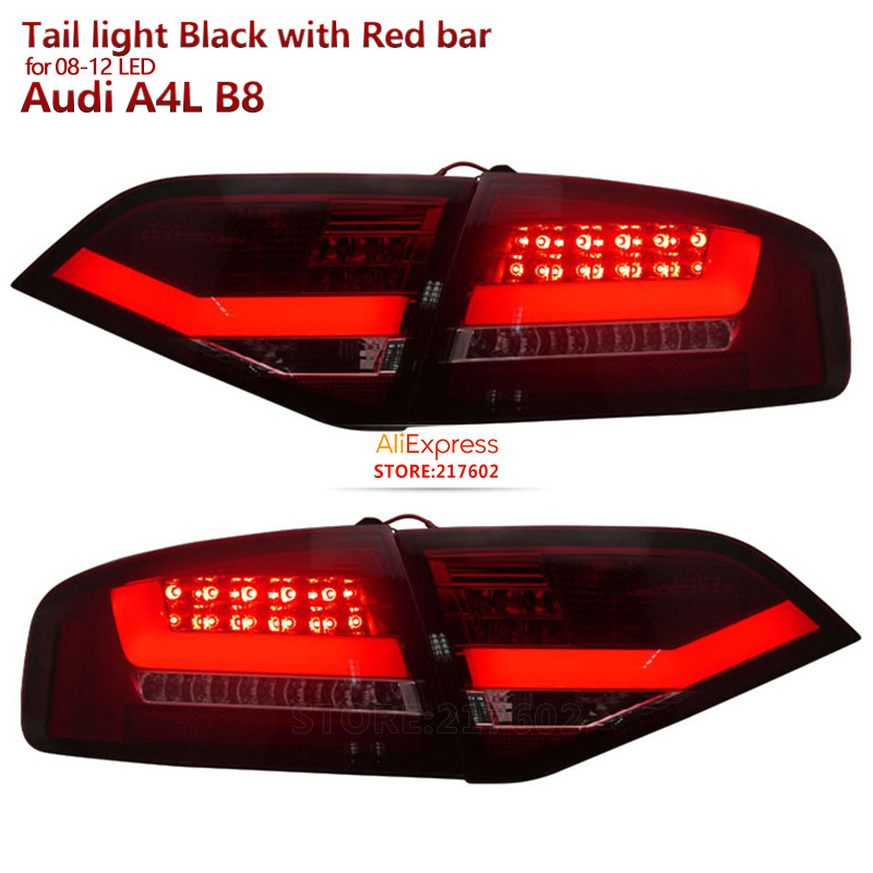LED Rear Lights For Audi A4 A4L A4L B8 2008 To 2012 Year Red Housing Replacement