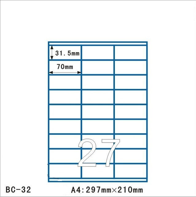 01 10 Top quality letter size 70 31 5mm address labels label