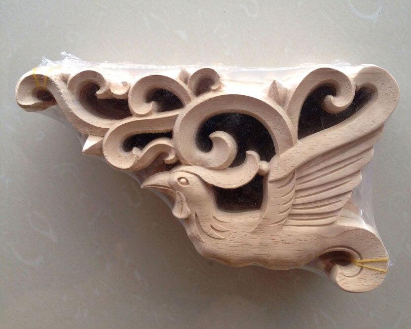 Dongyang ukiran kayu sudut busana applique gerbang serutan kayu bunga mebel ukir kayu bunga tidur diukir