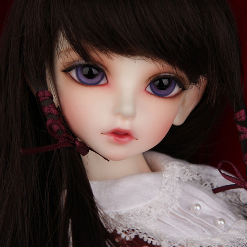Free Shipping 1/4 BJD Doll SD Fashion Lovely Kid Delf KIW Reborn Model Doll With Makeup For Baby Girl Gift kid delf girl bory bjd doll 1 4 luts baby girl sd doll free eyes