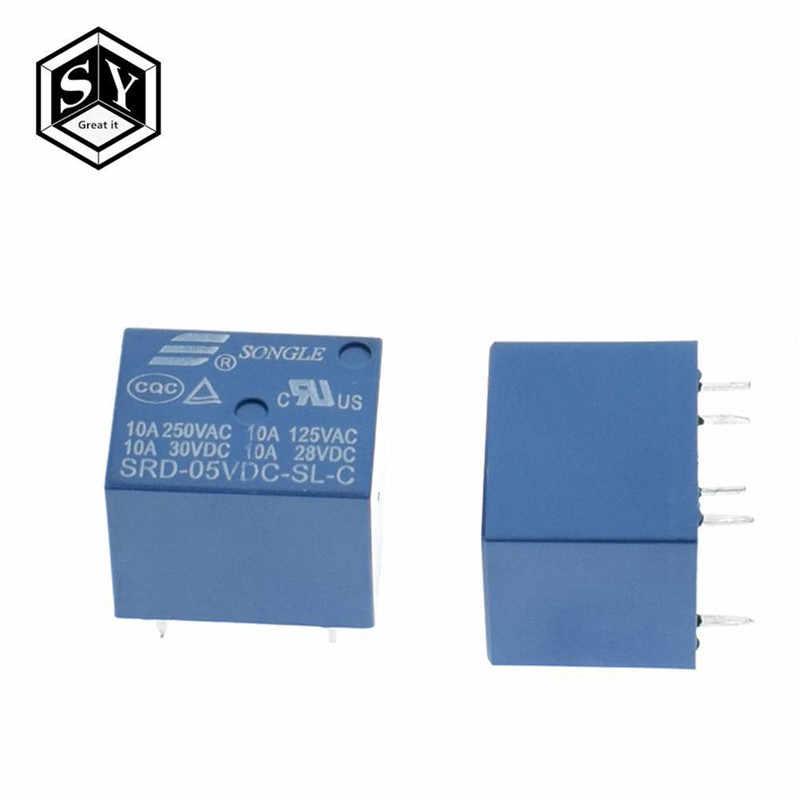 1 Buah Besar 5 V DC Songle Power Relay SRD-05VDC-SL-C PCB Jenis