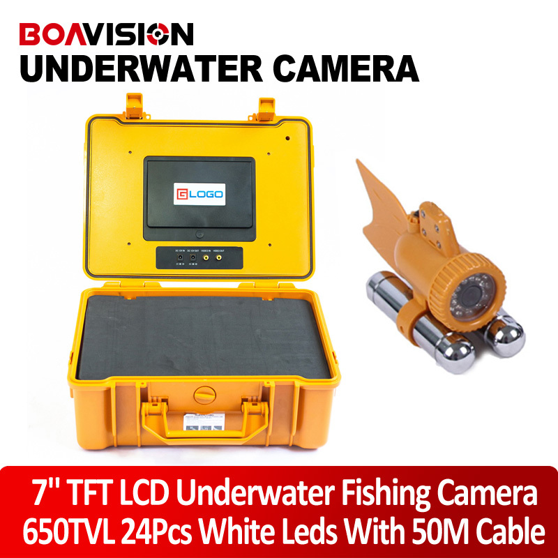 1/3 SONY CCD 650TVL Video CCTV Underwater Fishing Camera 50M(165ft) Cable Fish Finder 7 Digital LCD Monitor 24Pcs White Leds 20m cable underwater fishing camera fish finder with 1 3 sony ccd effio e 12pcs white leds camera night vision rotate 360 degree