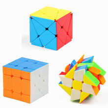 Moyu Mofangjiaoshi Cubing Classroom Aixs Cube Fisher Magic Windmill Stickerless Speed Puzzle Twisted Toys For Children