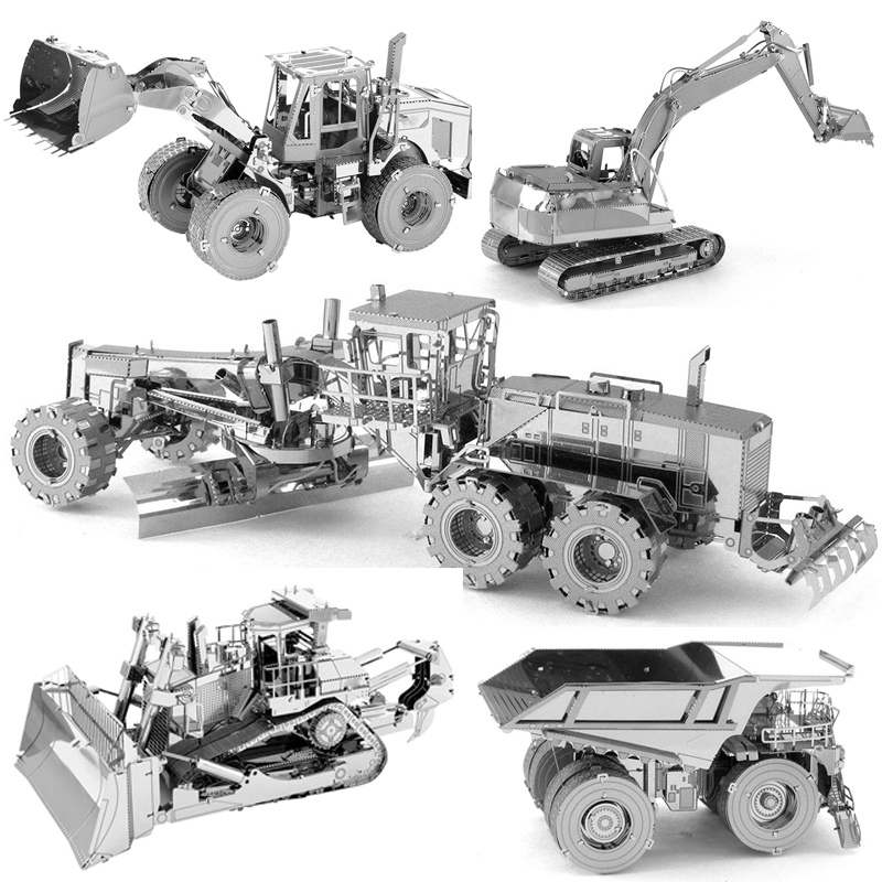 3D Puzzle Metal Model CAT EXCAVATOR/CAT MINING TRUCK/CAT WHEEL LOADER/CAT MOTOR GRADER Adult Children Collection Educational Toy