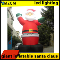 6m 4m 8m Christmas Inflatables Outdoors Inflatable Santa Claus With Led Lighting Giant Inflatable Santa Claus
