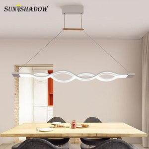 Image 3 - Asılı lamba Modern Led avize oturma odası yemek odası için mutfak parlaklık LED tavan avize aydınlatma fikstür armatürleri