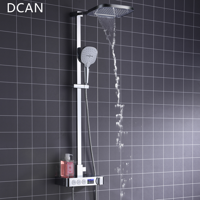 DCAN In Wall Digital Thermostat Shower System 3 Function Exposed ...