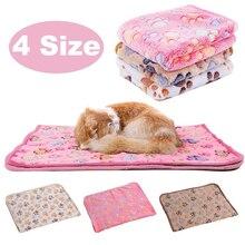9 цветов, милое полотенце для собак с принтом лапы, теплое полотенце для сна для собак, кошек, щенков, котят, флисовое мягкое одеяло для собак, банный халат, кровати, коврик для животных