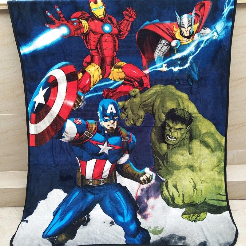 disney avengers thin blanket for summer fleece washable America Captians Iron Man print bed linens 3d 150*200 cm boy teens gift
