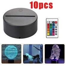 USB кабель сенсорный 3D светодиодный светильник держатель лампа база для 3D светодиодный ночной Светильник Замена 7 цветов цветной светодиодный светильник