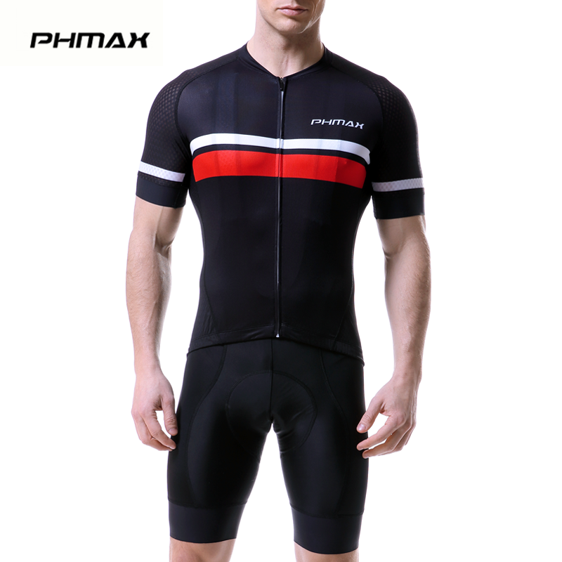 PHMAX 2019 Summer Pro Cycling Jersey Set Short Sleeve Cycling Bicycle Clothing Suit Mountain Bike Sportswears