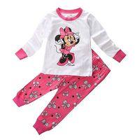 Children Baby Kid Girl Cartoon MINNIE Mouse Printed Nightwear Pajamas Pyjamas Sleepwear Suits 2 8Y