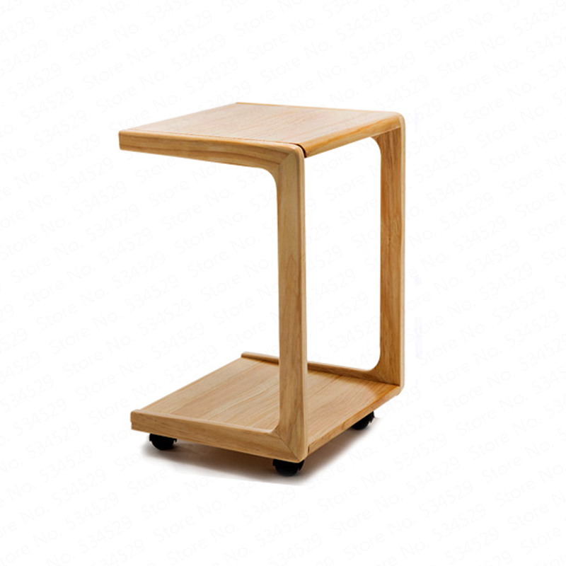 Simple Bedside Computer Table Sofa Side Table Mini Removable Small Coffee Table Solid Wood Bedroom Side Tables Furniture