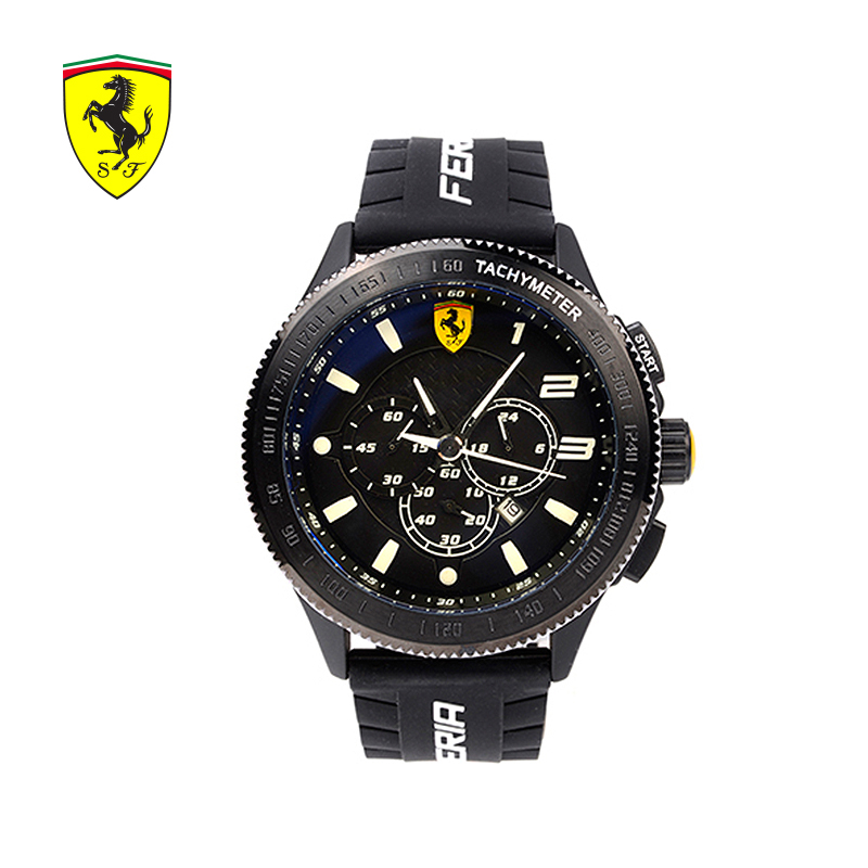 2018 Ferrari Men Watch Luxury Top Brand Business Male Clock Quartz-wristwatch Leisure Leather Quartz Watch natate new popular men fashion quartz watch leisure business luxury chenxi brand stainless sports wristwatch 1240