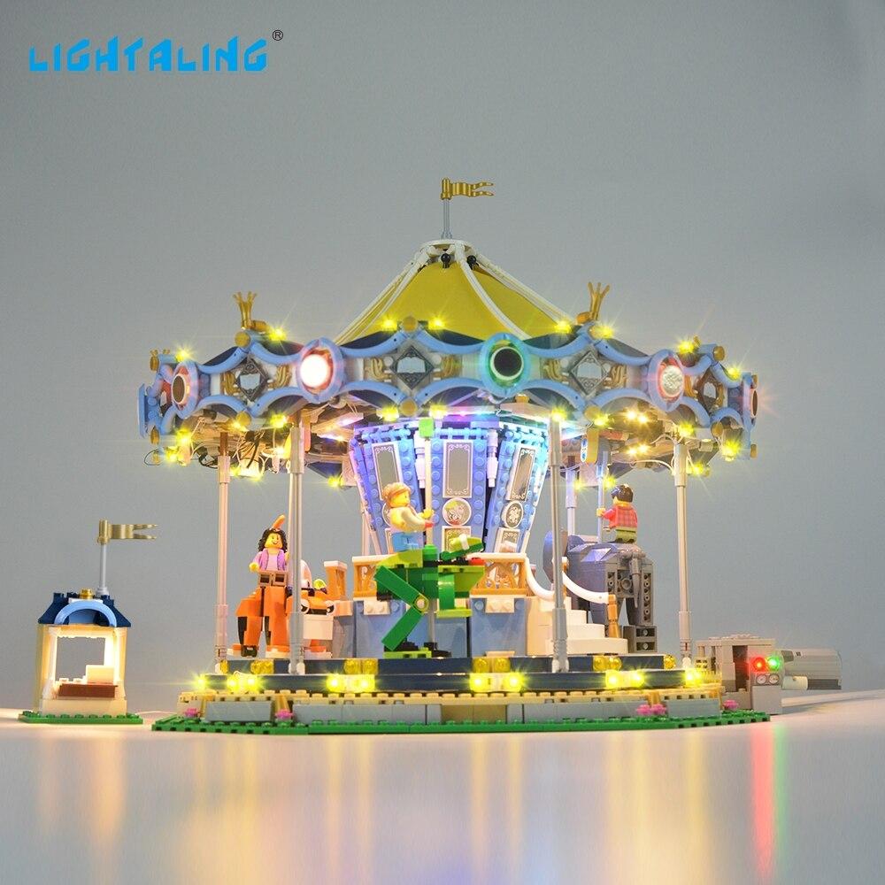 Oyuncaklar ve Hobi Ürünleri'ten Bloklar'de LIGHTALING Yaratıcı Uzmanı Yeni Atlıkarınca Işık Seti Light Up Kiti Ile Uyumlu 10257 Ve 15036 (Dahil Değildir model)'da  Grup 1
