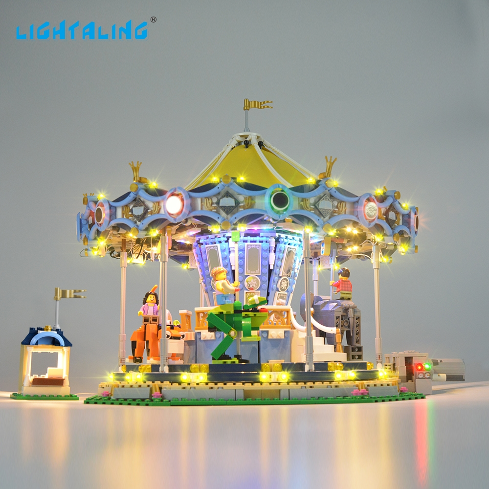 LIGHTALING kreator ekspert nowa karuzela zestaw światła zestaw oświetlenia kompatybilny z 10257 i 15036 (nie obejmuje model) w Klocki od Zabawki i hobby na  Grupa 1