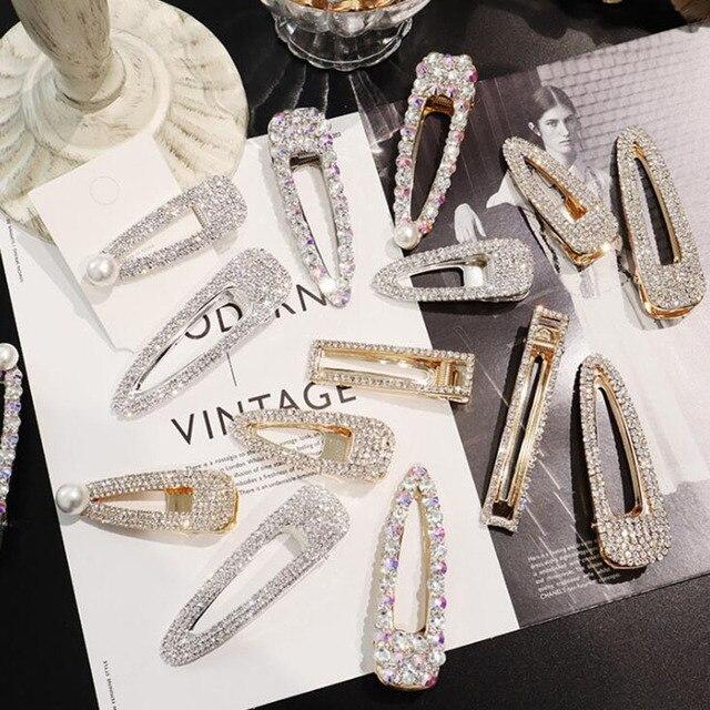 Clip de pelo de perlas broche de pelo Barrette palo horquilla accesorios para el cabello para mujeres niñas 2019 nueva moda mujer