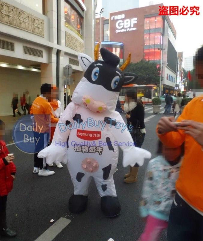 DC42 молоко корова надувной движущийся мультфильм и воздуходувка вентилятор гарантия настроить положительные отзывы
