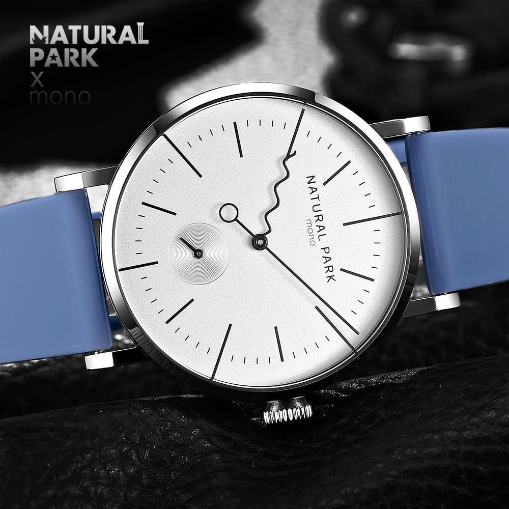 Relogio Masculino NATURAL PARK Watch Men Brand Luxury Steel Waterproof Quartz Mens Watches Casual Sport Male Clock Wristwatches