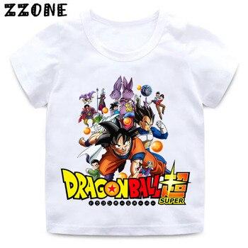 15c81b1d61a1e Футболка с принтом «Жемчуг дракона» для мальчиков и девочек детская  забавная одежда Enfant, летняя белая футболка HKP5201
