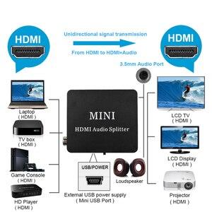 Image 5 - Extracteur Audio HDMI vers HDMI, convertisseur daudio stéréo avec HDMI TOSLINK SPDIF + 3.5mm