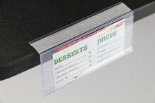 Plastik PVC L veri şeritleri yapışkan bant mal fiyat etiketi sergileme rafı konuşmacı burcu etiket kart tutucu süpermarket rafı 50 adet