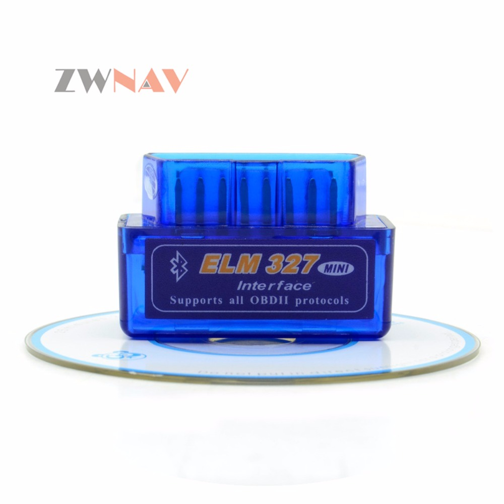 ZWNAV Heißer Verkauf Super-mini-elm327 Bluetooth OBD2 Ulme 327 Android Adapter Auto Scanner OBD 2 Elm-327 V1.5 OBDII Auto diagnose