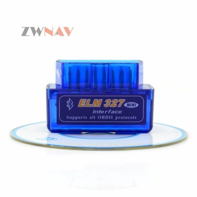 ZWNAV Hot Sale Super Mini Elm327 Bluetooth OBD2 Elm 327 Android Adapter Car Scanner OBD 2 Elm-327 V1.5 OBDII Auto Diagnostic