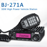 General Baojie BJ 271A 50W Mobile Radio Transceiver UHF Quad Band Car Radio Station Walkie talkie self driving outdoor tourism