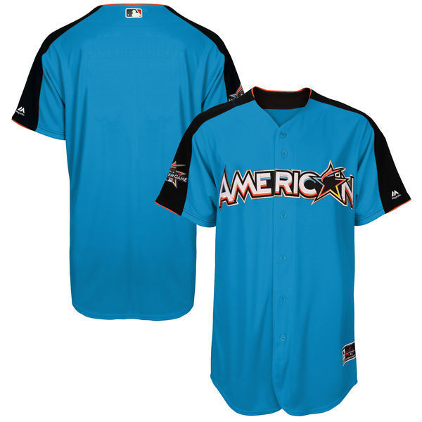 MLB Mens American League Baseball Blue 2017 MLB All-Star Game Authentic On-Field Home Run Derby Team Jersey ...
