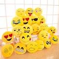 Cabelo aleatório 33 cm Soft Round Emoji Sorriso Emoticon Amarelo Almofada de Pelúcia Brinquedos de pelúcia Boneca presentes de Natal