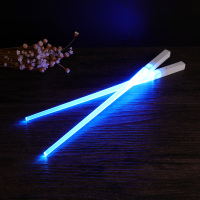 1 Pair of LED Lightsaber Chopsticks Light Up Durable Lightweight Portable BPA Free and Food Safe Tableware 1