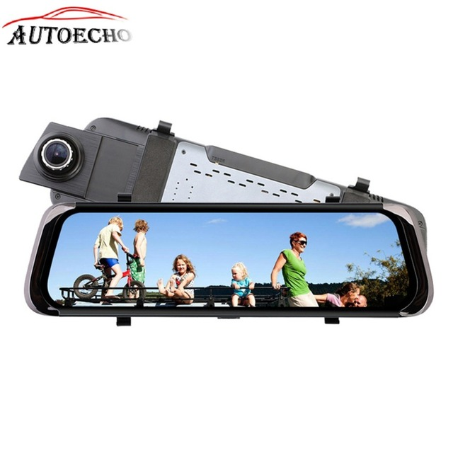 10 Inch Dvr Gps Full Screen Rearview Mirror Led Display Adjustable