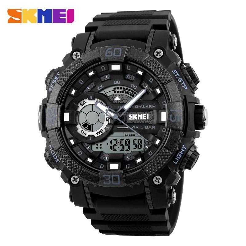 SKMEI Fashion Sports Watches Men 5Bar Waterproof LED Digital Wristwatches Outdoor Men's Quartz analog Relogio Masculino 1228