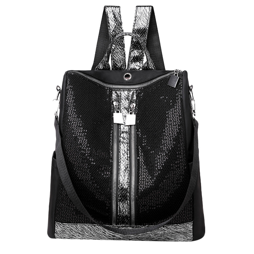 2019 New Fashion Ladies Sequins Wild Large Capacity Backpack Shoulder Bag Student Bag Mochilas Feminina Bagpack Mochila Mujer