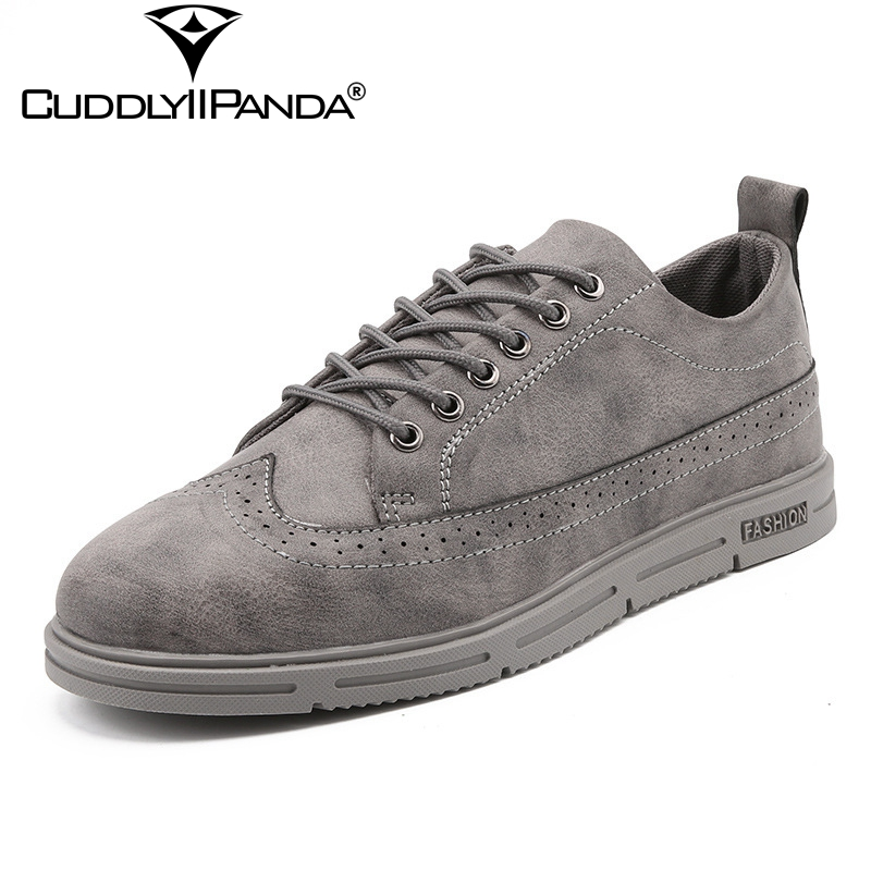 CuddlyIIPanda 2018 New Spring Summer Men Casual Shoes High Quality Fashion Brogue Shoes Breathable Dress Shoes Zapatos Hombre lowest price new 2016 high quality pu men casual flats shoes fashion men summer chaussure homme shoes for men zapatos hombre