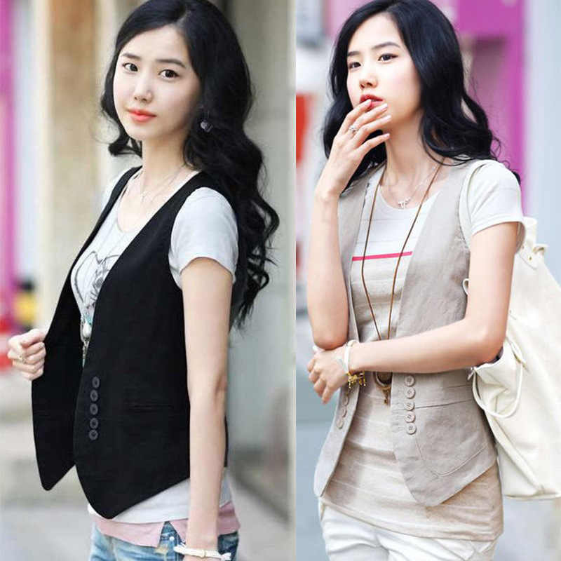 MS spring new Korean all-match slim suit vest vest / small vest vest size dress female