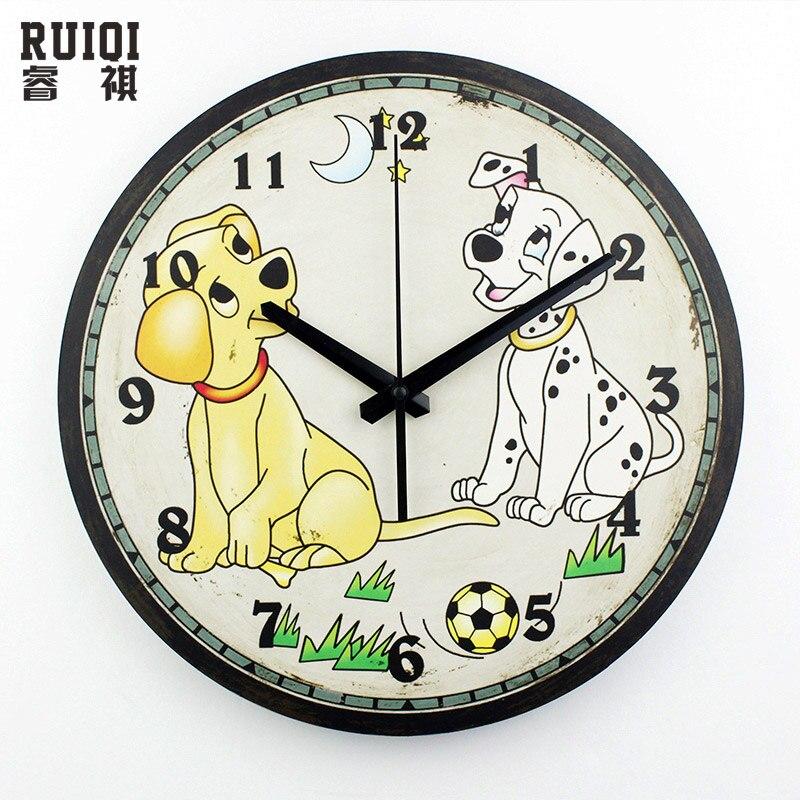 Cartoon Children Room Wall Clock Modern Design Dog Wall Watch Home Clock On Wall Kids Living
