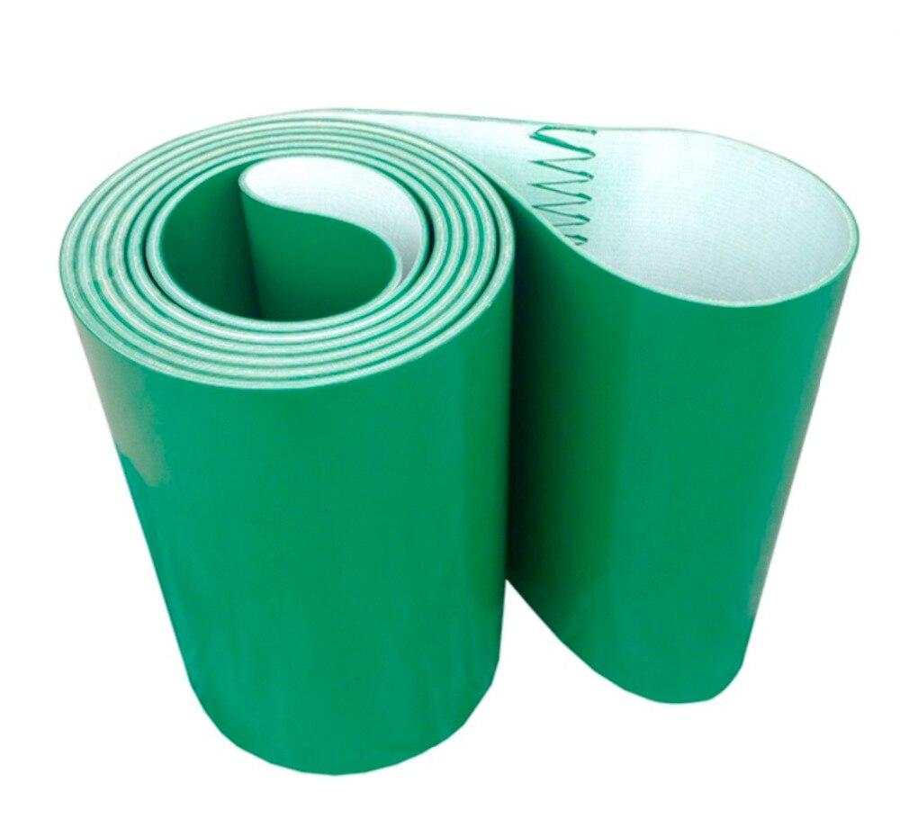 Périmètre: 2000mm Largeur: 100mm Epaisseur: 3mm Vert Ligne De Transmission Industrielle Ceinture Convoyeur PVC Ceinture (Peut Personnalisé Taille)