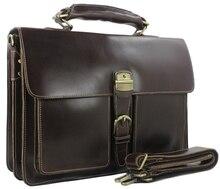 Mode Haute Classe Italien véritable porte-documents en cuir Hommes en cuir de mallette portable fourre-tout Messager sac à main livraison gratuite