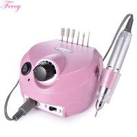Maszyna elektryczna do Manicure i Pedicure frezarka do paznokci elektryczna wiertarka do paznokci młyn do Manicure Nail Art Feecy