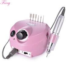 Máquina eléctrica para manicura y pedicura, fresadora para uñas, taladro eléctrico para manicura, decoración de uñas, Feecy