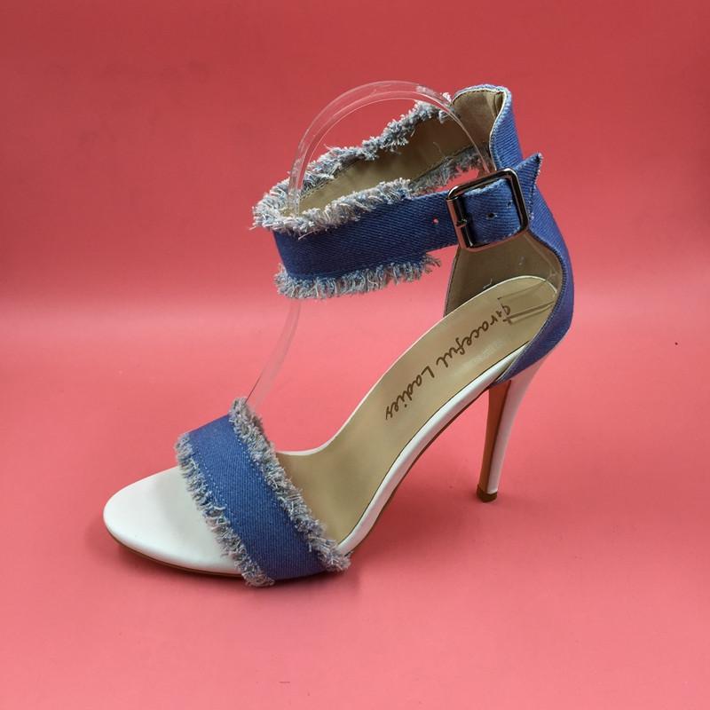 20473f706d99 Sexy Kim Kardashian Sandal Style PVC Clear Transparent Strappy Buckle High  Heel Sandals Plus Size Custom Stilettos Women ShoesUSD 59.00 pair
