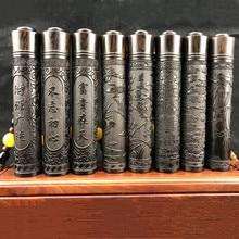 USB Charging Double Arc Cigarette Lighter Black Sandalwood Electronic Intelligent Windproof Flameless Wood Carved Gift
